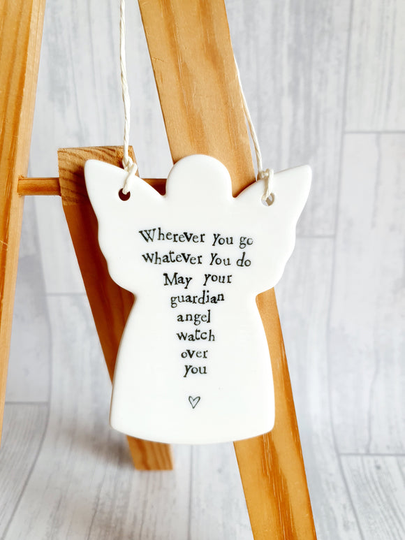 East of India - Ceramic Hanging Angel - Wherever You Go