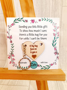 Heart Hugs - 5cm 'i' version cards - NON PERSONALISED