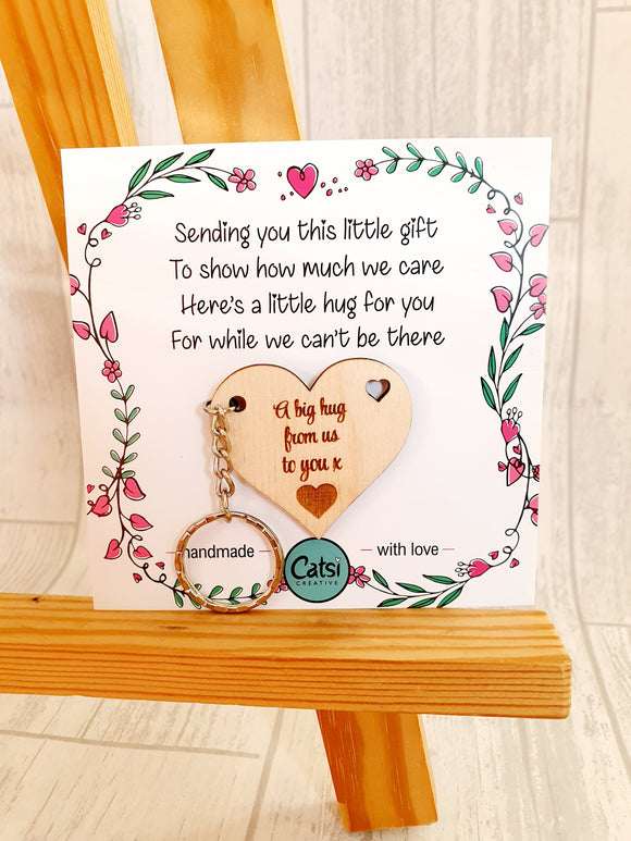 Heart Hugs - 5cm 'we' version cards - NON PERSONALISED