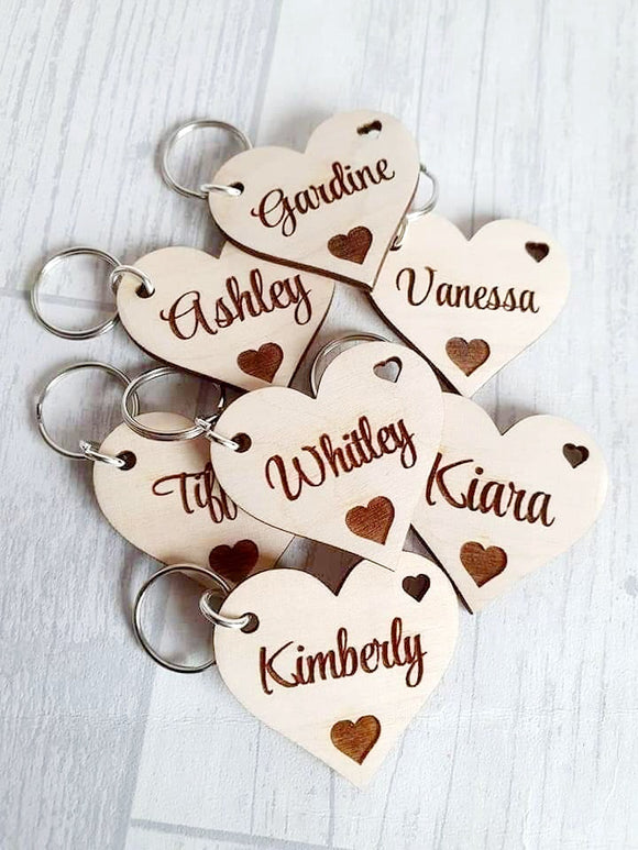£1 Heart keyrings