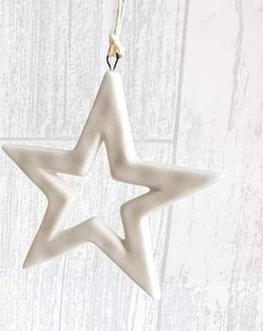 East of India -  Large plain ceramic cut out star