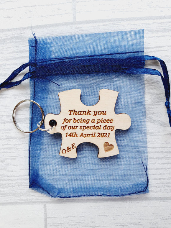 Jigsaw Puzzle Piece Wedding favours
