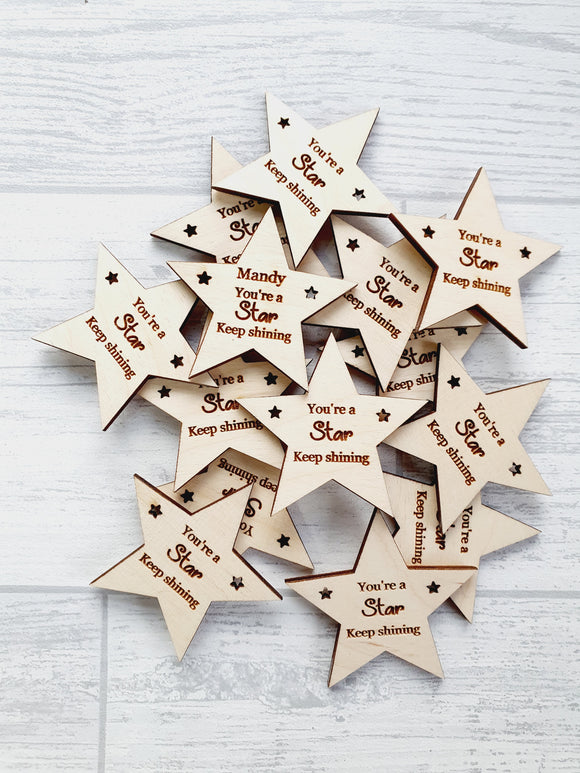 Motivational & incentive - You're a star - tokens