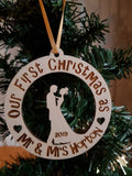 Our First Christmas Silhoutte Bauble