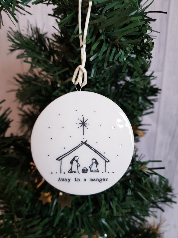 Double Sided Decorations- Away In a Manger