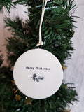 Double Sided Decorations- Merry Christmas Wreath