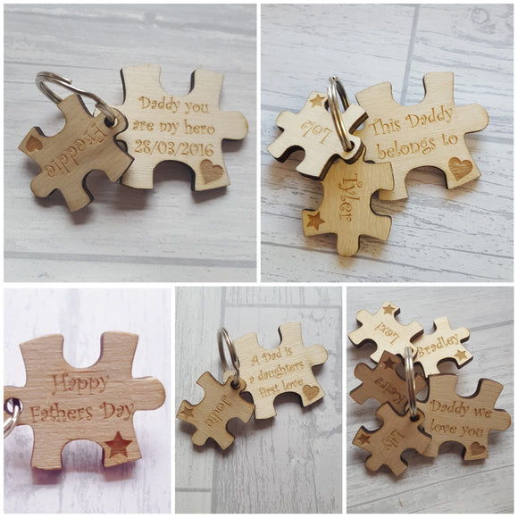 Puzzle piece Keyrings - Various Pieces