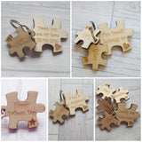 Jigsaw Puzzle Keyrings - Various Pieces