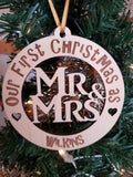 Our First Christmas As Mr/Mrs - Mrs/Mrs - Mr/Mr Personalised