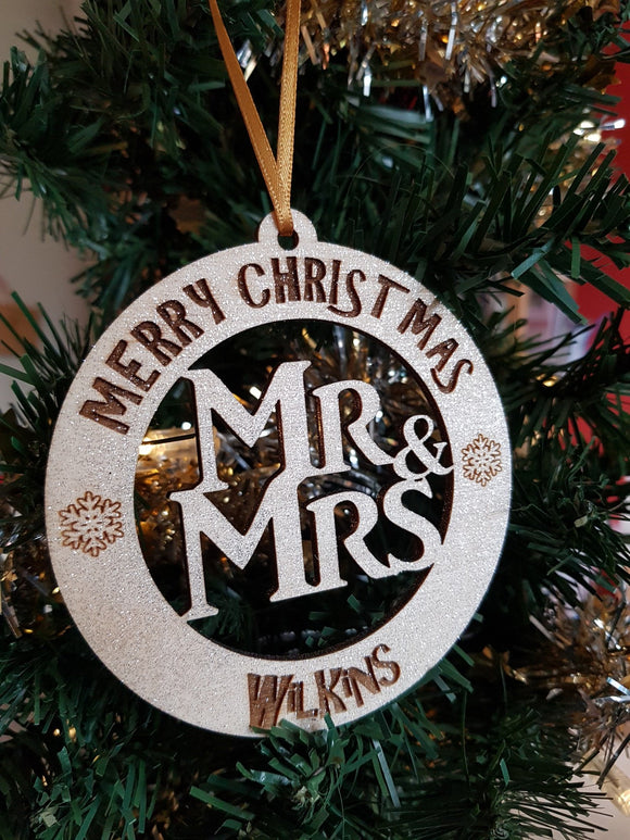Merry Christmas Mr/Mrs - Mrs/Mrs - Mr/Mr Personalised