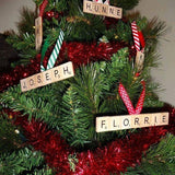 4 Personalised Wooden Decorations/ Bauble for £12