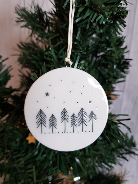 Double Sided Decorations- Merry Christmas Cabin