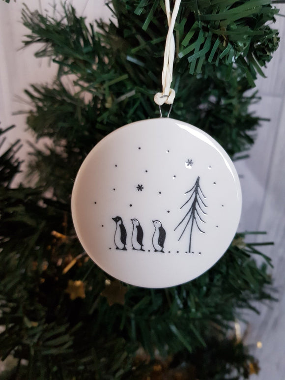 Double Sided Decorations- Penguins Let It Snow