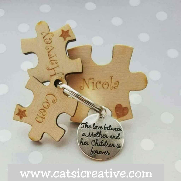 Three Piece Puzzle Keyring