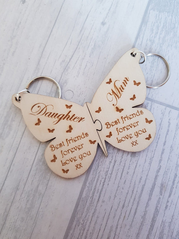 butterfly, keyring,