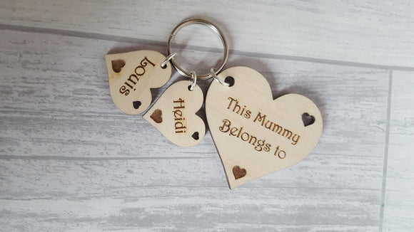 Heart Keyring - This mum belongs to