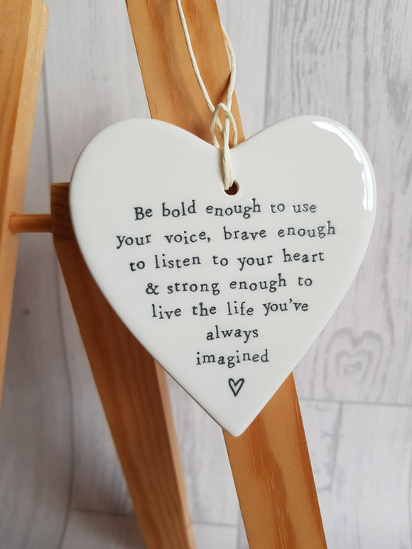 Heart Ceramic Plaque -  Be Bold