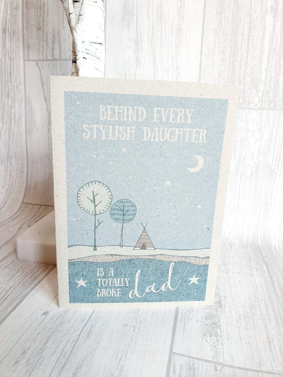 East Of India - Outdoors Card - Stylish Daughter Card