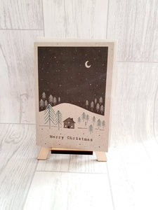 East Of India - Winter Land - Hillside Card