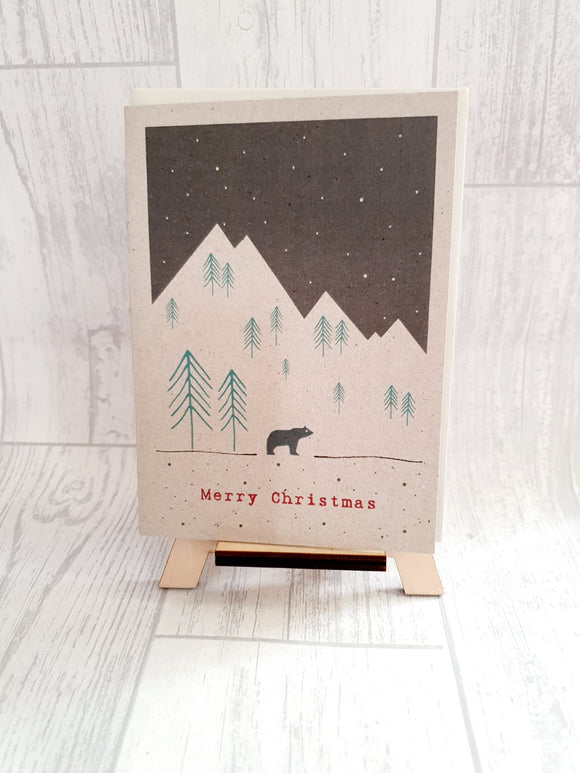 East Of India - Winter Land Card - Mountain Bear Card