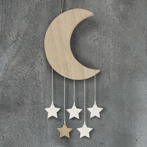 East of India - Baby - Wooden Moon with Hanging Stars