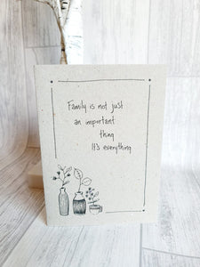 East of India - Ink Flower Card - Family is Everything Card
