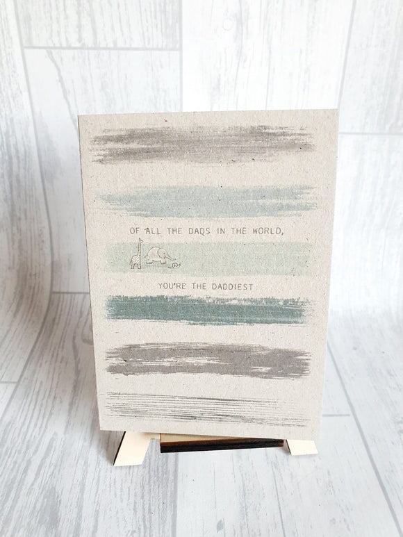 East of India - Colour Wash Card - Of All the Dads Card