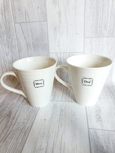 East of India - Porcelain Mug Set - Mum and Dad