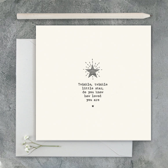 East of India - Square Card - Star / Twinkle, Twinkle