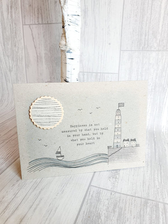 East of India - Stitchery Card - Happiness is Not Measured Card