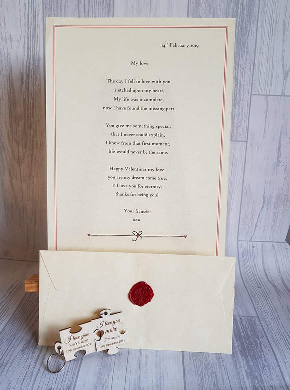 Wax Sealed Poem Valentine's day