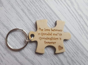 The Love between - Puzzle piece keyring