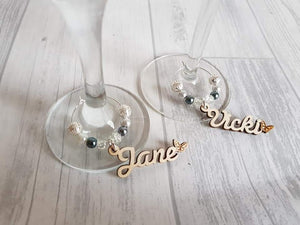 wine glass, charm