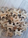 Small Jigsaw puzzle piece keyrings