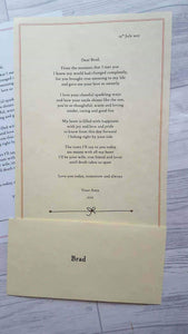 Groom Wax Sealed poem with keyring offer