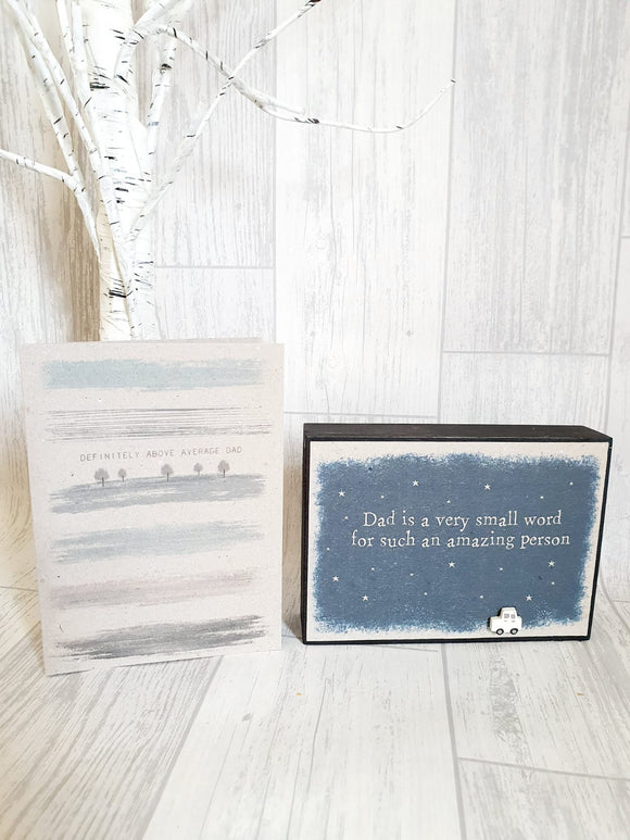 Gift Set - Dad is a Very Small Word