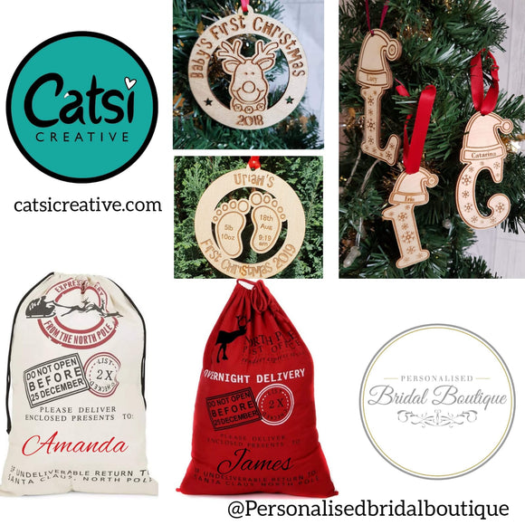Personalised Cotton Sac and Bauble offer