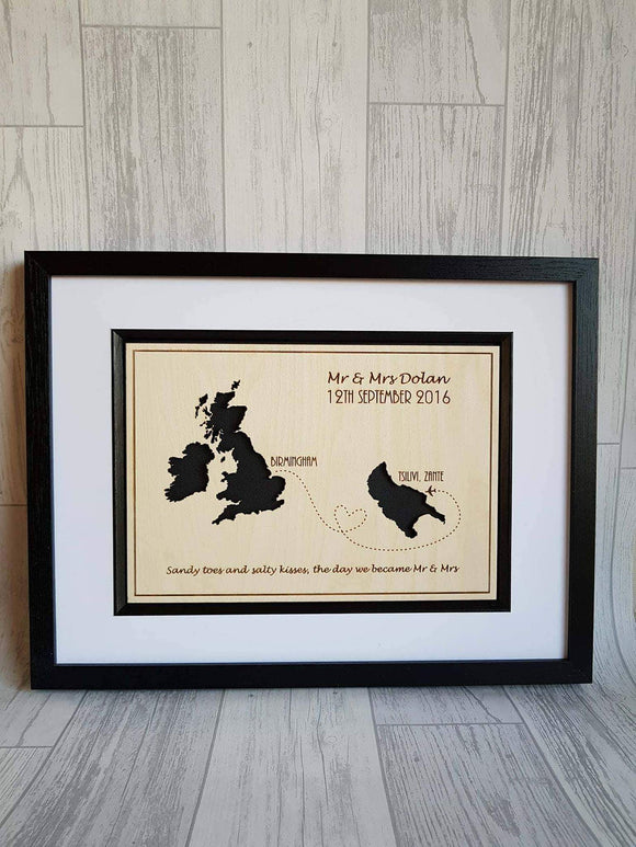 Destination Maps Framed