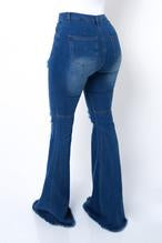 Load image into Gallery viewer, Bella Bottom Jeans Dark