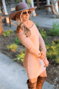 LASTING LOVE SWEATER DRESS-DUSTY PINK