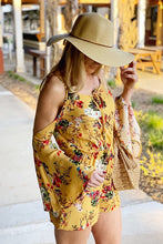 Load image into Gallery viewer, TRULY FABULOUS FLORAL ROMPER-MUSTARD - Infinity Raine