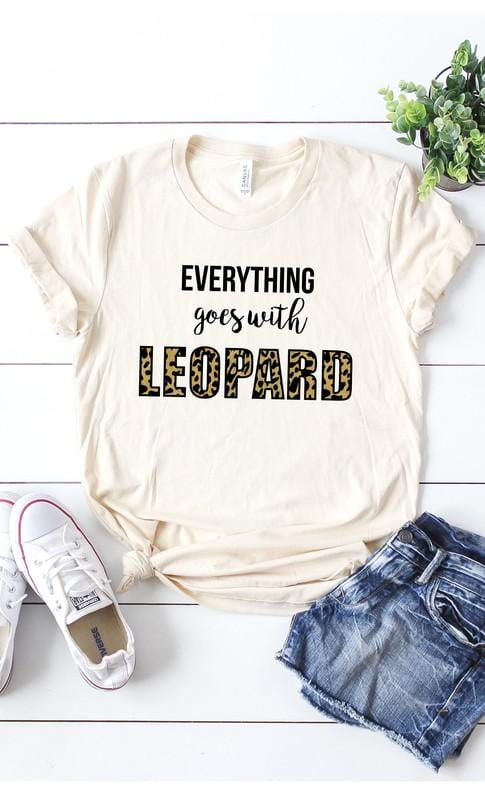 EVERYTHING GOES WITH LEOPARD TEE-CREAM - Infinity Raine