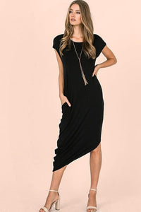 THIS IS NO DREAM MIDI DRESS-BLACK - Infinity Raine