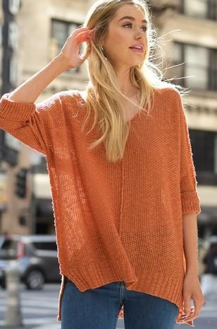 TAKE A BREAK SOFT LUXE SWEATER TOP-CAMEL - Infinity Raine