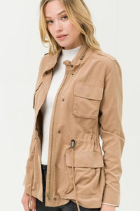 FALL IS CALLING YOU BY NAME JACKET-CAMEL - Infinity Raine