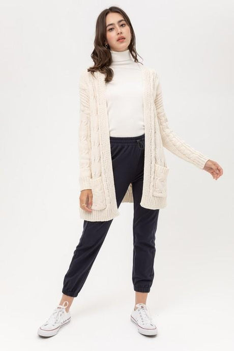 MY LOVELY DAY KNITTED CARDIGAN-IVORY - Infinity Raine