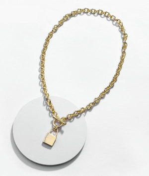 LUCKY LOCK PENDANT CHAIN NECKLACE - Infinity Raine