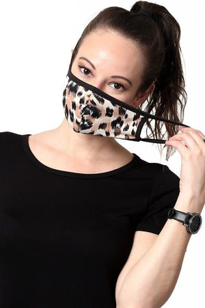 KEEP IT COVERED FACE MASK-KHAKI LEOPARD - Infinity Raine