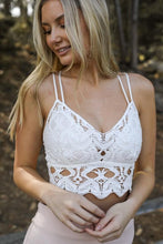 Load image into Gallery viewer, BACK ON AGAIN BRALETTE- WHITE - Infinity Raine