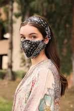 Load image into Gallery viewer, ALL YOU NEED HEADBAND AND FACE MASK BUNDLE-BLACK BANDANA - Infinity Raine